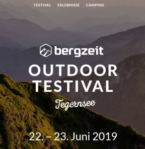 Bergzeit Outdoor Testival Tegernsee 22.-23.06.2019
