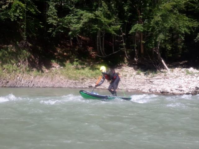 Wildwasser-SUP auf der Tiroler Ache